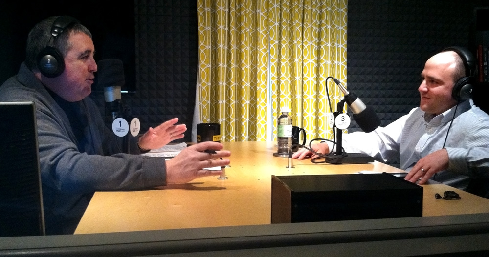 In the TideSmart Talk studio, host Steve Woods (left) is joined by Senior Vice President of VOX Global, Michael Cuzzi (right).