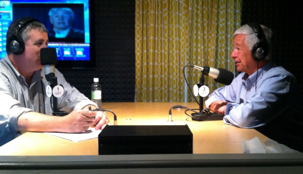 TideSmart Talk with Stevoe host Steve Woods (left) welcomed Congressman Mike Michaud (right) to the studio.