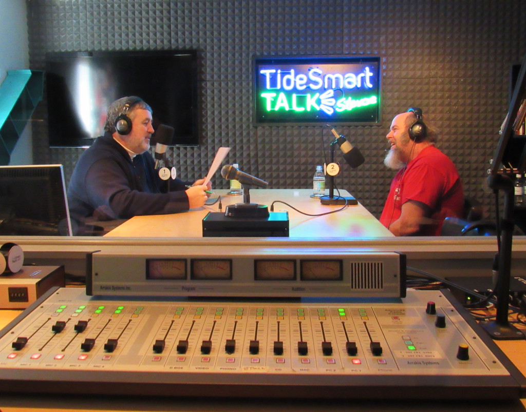 Host of TideSmart Talk with Stevoe, Steve Woods, recently welcomed current Survivor contestant Dan Foley (right).