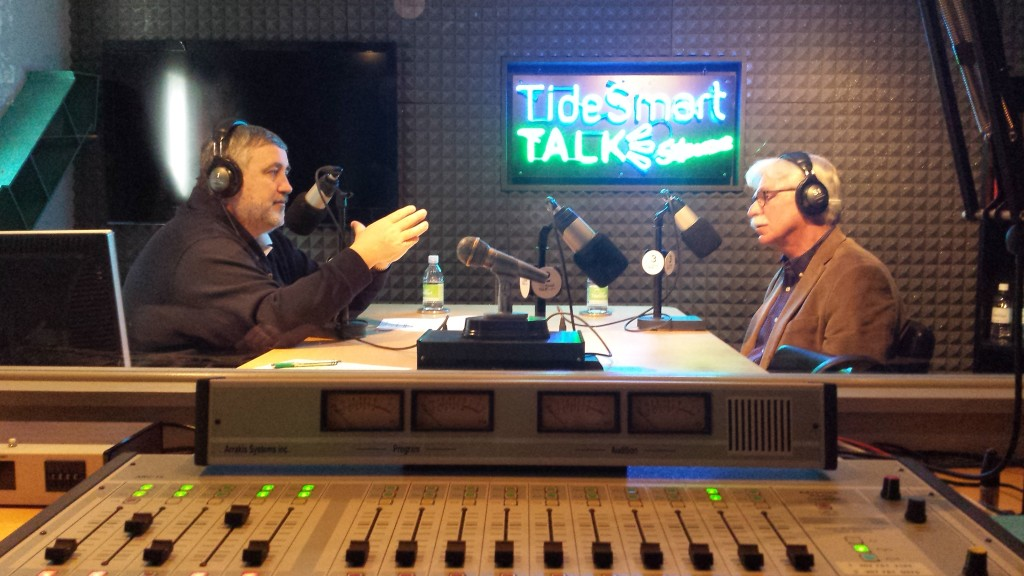 Host of TideSmart Talk with Stevoe, Steve Woods, recently welcomed President of Unity College Stephen Mulkey (right).