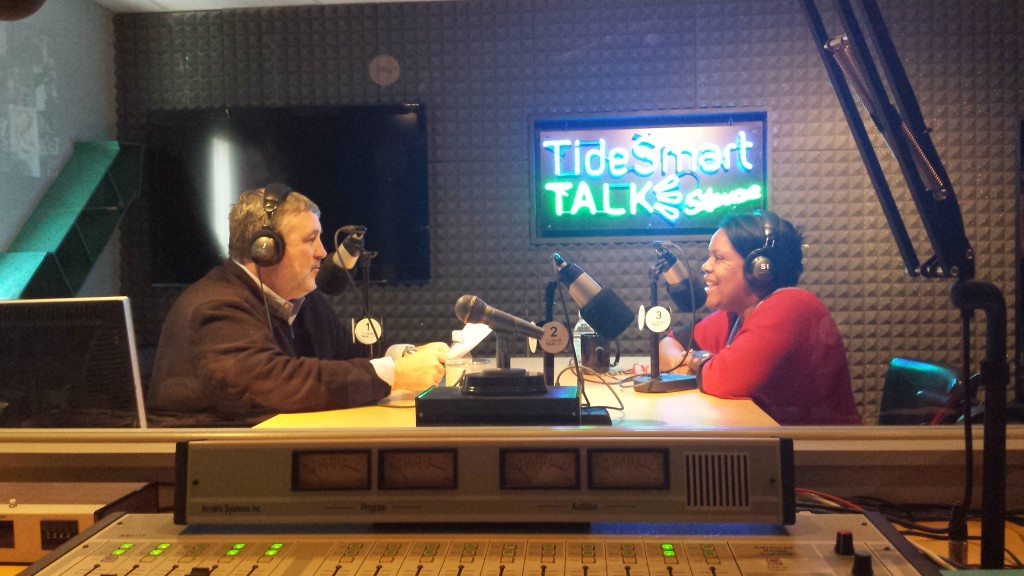 Host of TideSmart Talk with Stevoe, Steve Woods, recently welcomed Dean Designate Danielle Conway (right).