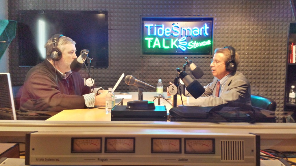 Host of TideSmart Talk with Stevoe, Steve Woods, recently welcomed Executive Director of the Maine Turnpike Authority Peter Mills (right).