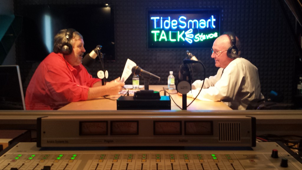 Host of TideSmart Talk with Stevoe, Steve Woods, welcomed UNE's Director of Athletics, Jack McDonald (at right).