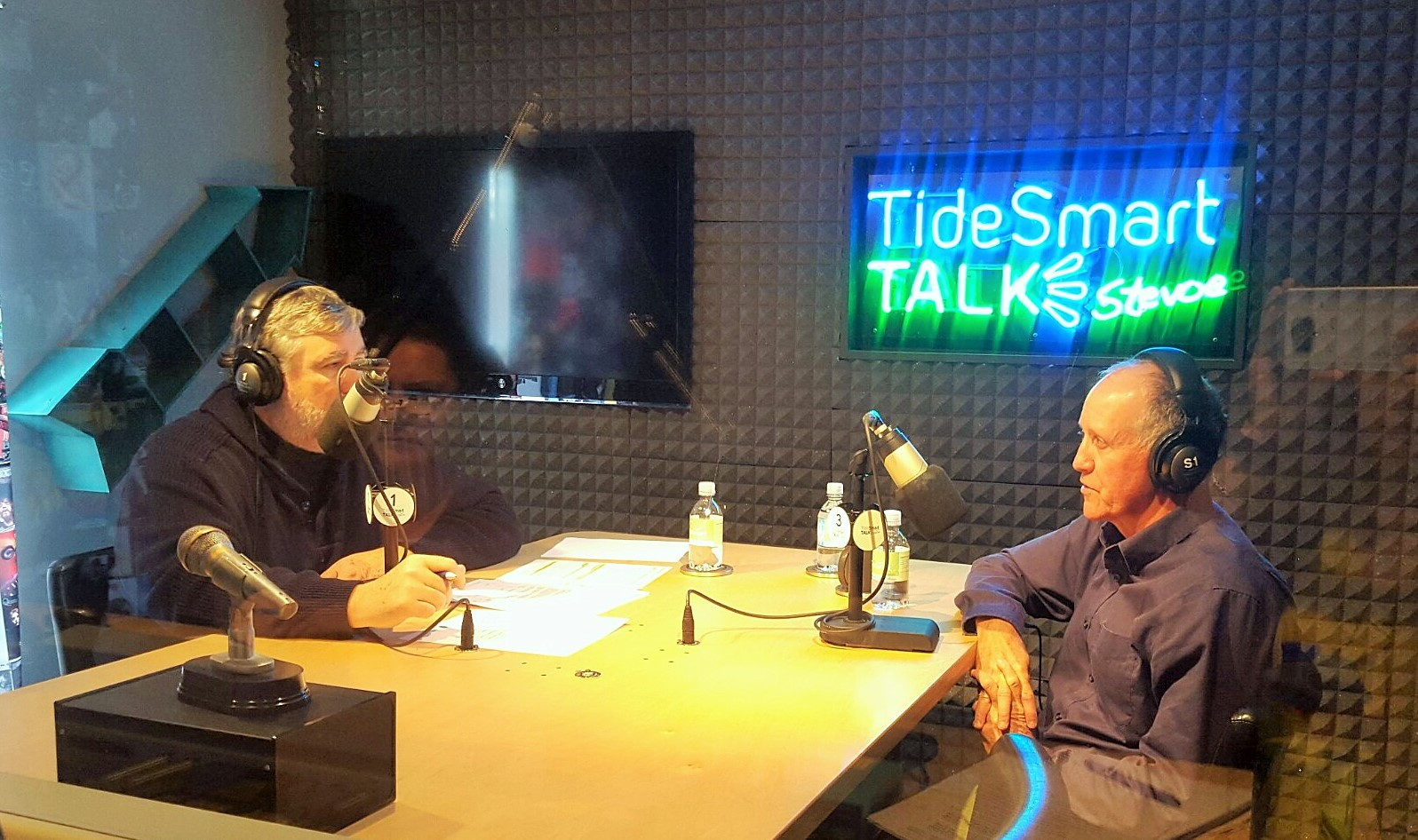 Host of TideSmart Talk with Stevoe, Steve Woods, welcomed Baxter State Park Director, Jensen Bissell (at right).