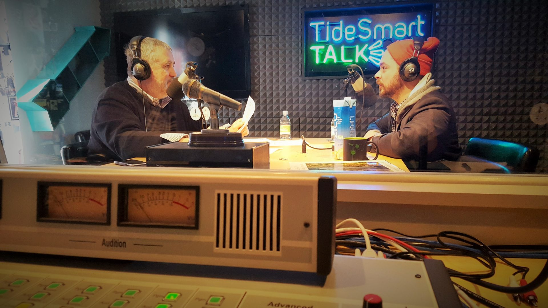 Host of TideSmart Talk with Stevoe, Steve Woods, welcomed ICELANDx207 artist, Justin Levesque (at right).