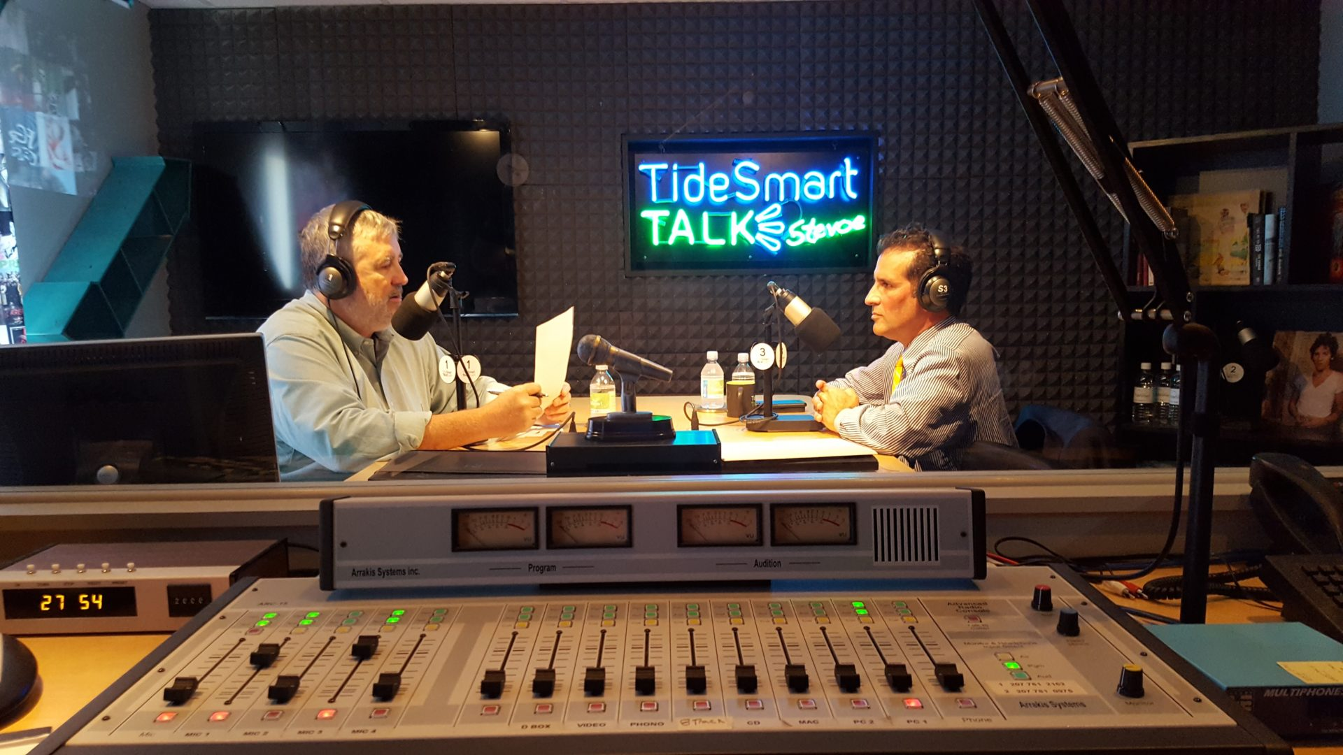 Host of TideSmart Talk with Stevoe, Steve Woods, welcomed Superintendent of Portland Public Schools, Xavier Botana (at right).