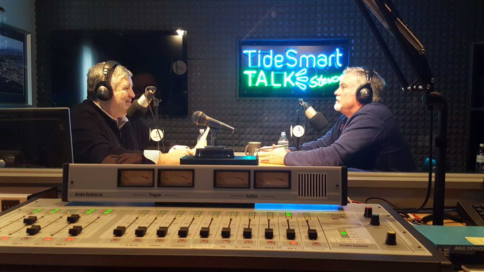 Host of TideSmart Talk with Stevoe, Steve Woods, welcomed Executive Director of Preble Street, Mark Swann (Swannie) (at right).
