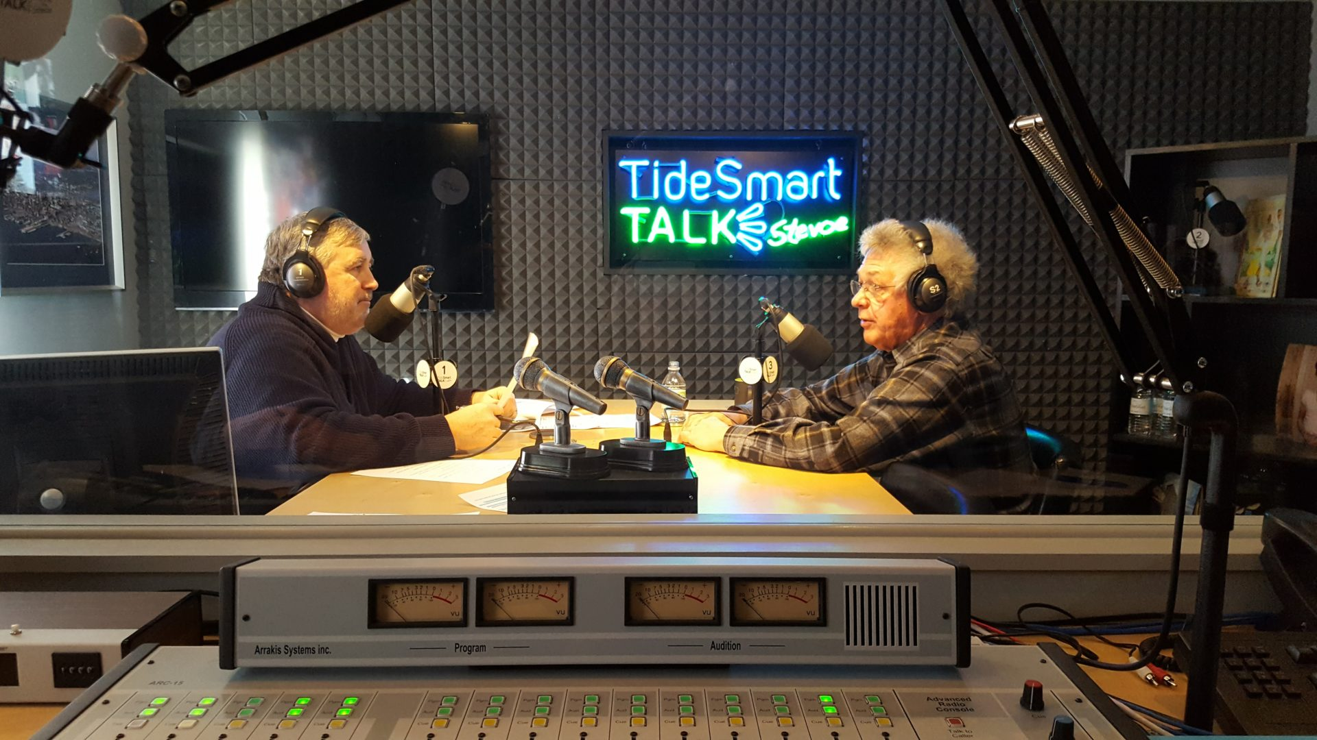 Host of TideSmart Talk with Stevoe, Steve Woods, welcomed Chris Sauer, Co-Founder & CEO of Ocean Renewable Power Company (at right).